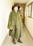 Lady in mink furcoat Stock Image