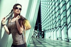 Lady in a modern interior Stock Photography