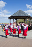 Lady Morris Dancers Stock Photography