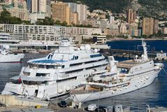 Lady Moura Yatch at Montecarlo Stock Images