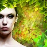Lady Natur. Fotografering för Bildbyråer