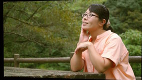 Lady in the nature. The lady visited the nature and enjoyed it.n Royalty Free Stock Photos