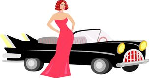 Lady next to a car Royalty Free Stock Photos