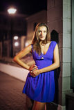 Lady in night Royalty Free Stock Photography