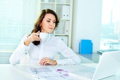 Lady at office Stock Photos