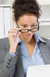Lady in office Royalty Free Stock Images