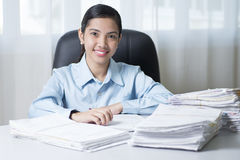 Lady In The Office Stock Images