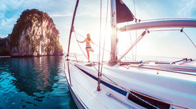 Free Lady On The Yacht Royalty Free Stock Photos - 76658778