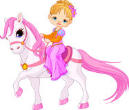 Lady på häst Royaltyfri Fotografi