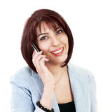 Lady on phone royalty free stock images