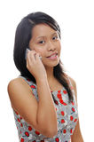 Lady on phone Royalty Free Stock Photo