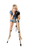 The lady - photographer Royalty Free Stock Images