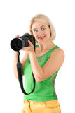 The lady - photographer Royalty Free Stock Photography