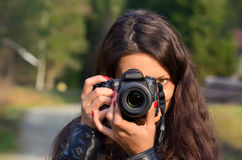 Lady photographer Royalty Free Stock Image