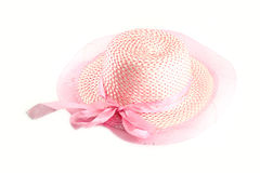 Lady pink hat Royalty Free Stock Image
