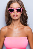 Lady in pink. Stock Photography