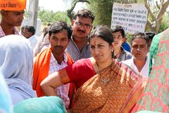 Lady politician from India stock images