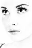 Lady portrait. B&W photography. Lady portrait. B&W photography.  Isolated on white Stock Photography