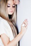 Lady portrait with ring Royalty Free Stock Image