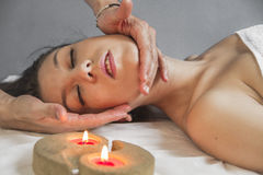 Lady.portrait of young beautiful woman in spa environment Stock Photography
