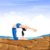 Lady practising yoga for wellness Royalty Free Stock Photos