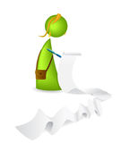 Lady preparing a List. Illustration of Lady preparing a List Royalty Free Stock Photography