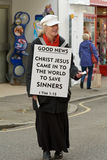 Lady promoting Christianity Stock Photos
