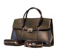 Lady purses. Isolated on a white background Stock Photo