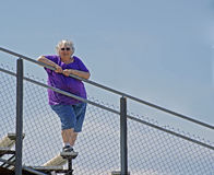 Lady on the rail Royalty Free Stock Photos