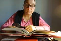 Lady reading Stock Photography
