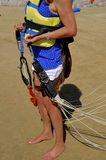 Lady ready for parasailing Royalty Free Stock Photo