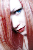 Lady RED. Blue eyes red hair girl royalty free stock images