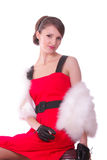 Lady in red Royalty Free Stock Photos