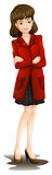 A lady with a red blazer Royalty Free Stock Photography