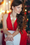Lady in red Stock Image