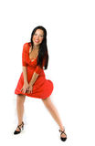 Lady in red dress Royalty Free Stock Photos