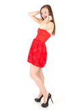 Lady in red dress Stock Photo