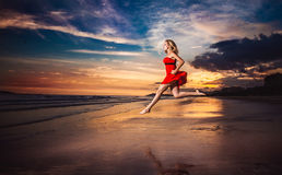 Lady in red Royalty Free Stock Images