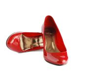 Lady red shoes Royalty Free Stock Photos