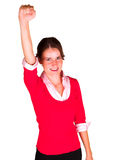 Lady rejoicing Royalty Free Stock Image