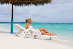 Lady relaxing Royalty Free Stock Image