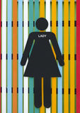 Lady restroom sign Stock Photos