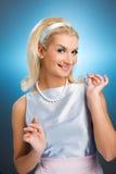Lady retro portrait Stock Photo