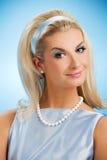 Lady retro portrait Stock Photography