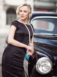 Lady in retro style Royalty Free Stock Images