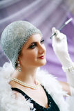 Lady from roaring 20s Stock Photo