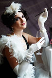 Lady from roaring 20s Royalty Free Stock Photos