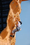Lady Rock Climber 15. Lady climber in a competition Royalty Free Stock Photography