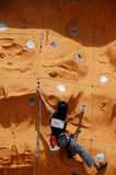 Lady Rock Climber10. Lady climber in a competition Stock Photo