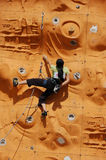 Lady Rock Climber2. Lady climber in a competition Stock Image